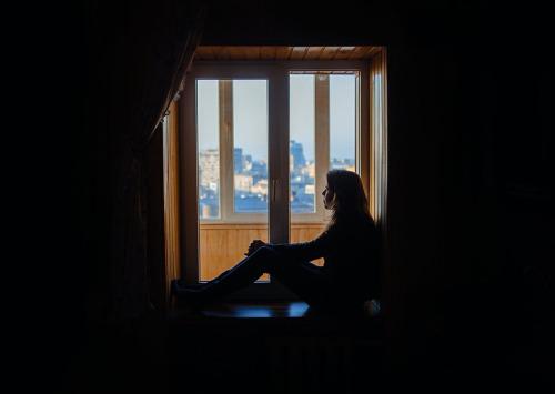 uitzicht vanuit ons Dnipropetrovsk appartement ©Robin Alysha Clemens